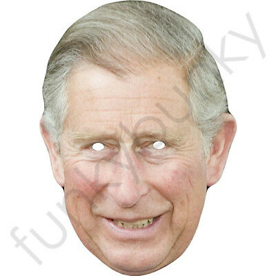 Prince Charles Royal Celebrity Card Mask All Our Masks Are Pre-Cut!