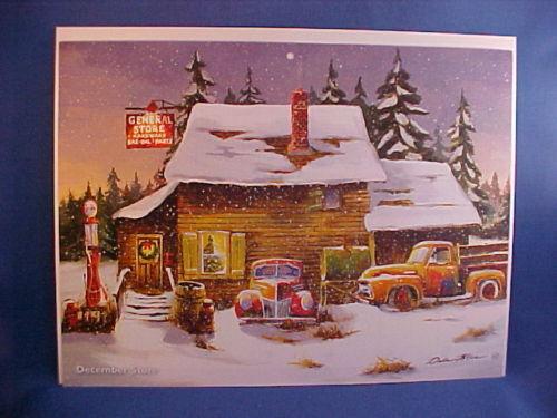 1939 Ford 55 F-100 junkyard calendar art by Dale Klee