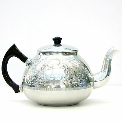 Vintage Retro Swan Brand Aluminium Carlton 8 Cup Teapot
