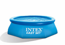 Intex 8 Ft x 30 Inch Easy Set Inflatable Round Above Ground Family Swimming Pool