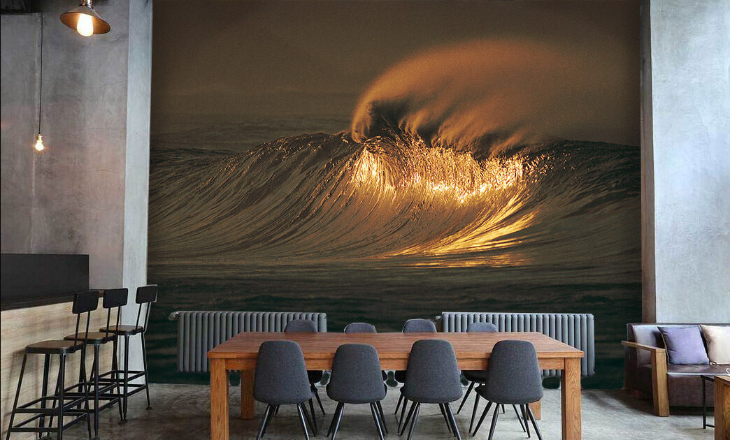 3D Huge Wave 50 Wall Paper Wall Print Decal Wall Deco Indoor Wall AJ Wall Paper