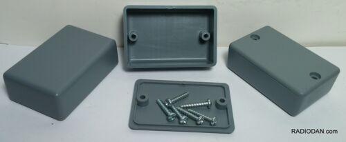 USA small GRAY Plastic Electronic Project Box Enclosure case 2.25 x 1.5 x .785