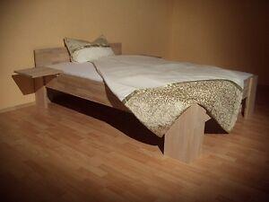 Massivholz-Bett-180x200-Fuss-I-Doppelbett-Gaestebett-Futonbett-Buche-Holzbett