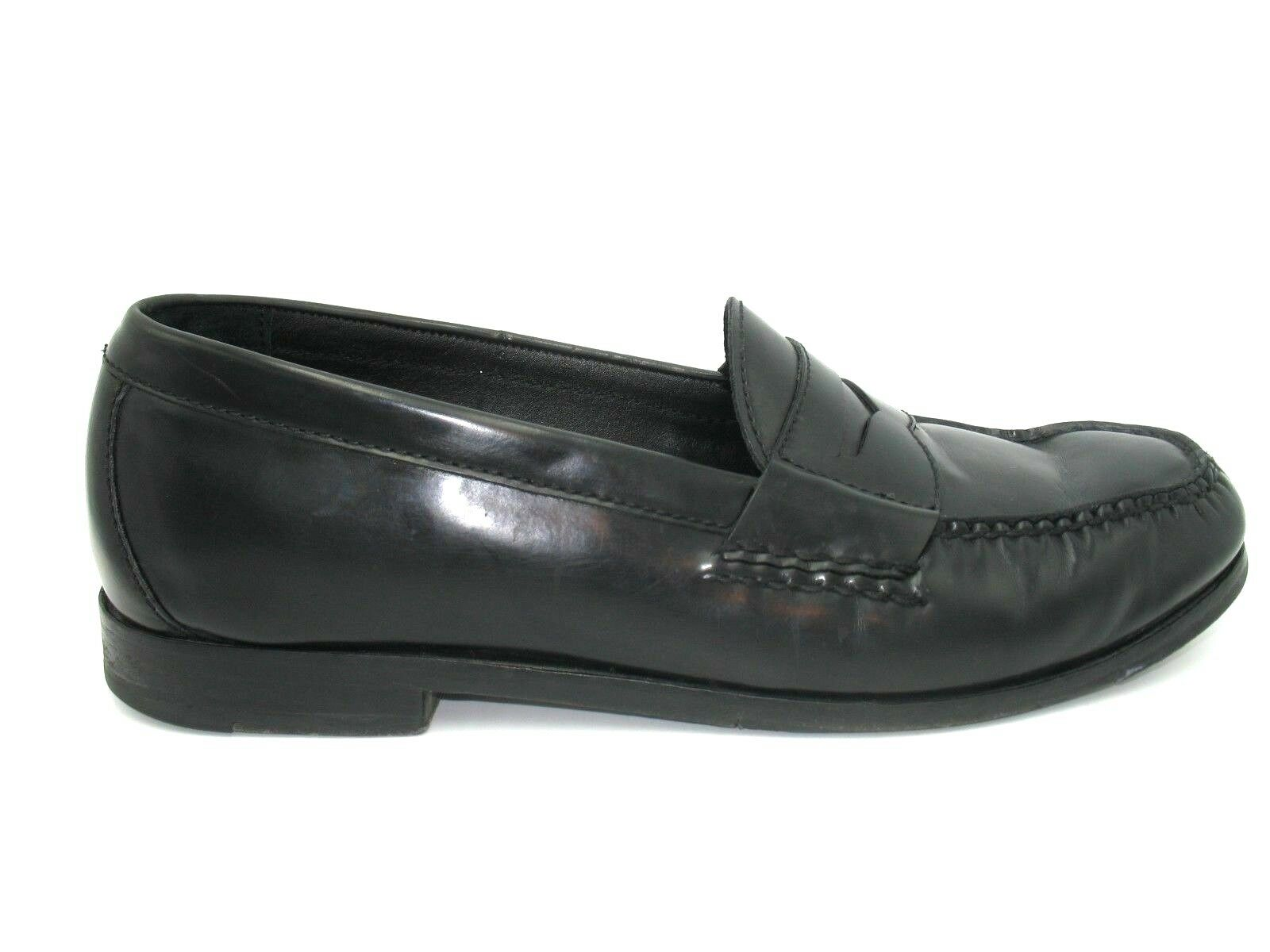 Cole Haan Grand Os Black Leather Slip On Penny Loafer shoes Mens 10.5M