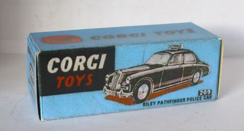 Repro Box Corgi Nr.209 Riley Pathfinder Police Car blaue Box