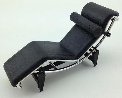 Decorative Collectibles Miniatures Adaptable Lc4 Le Corbusier Chaise Lounge Chair Mini Mid Century Retro Designer 1/12 Black Special Buy