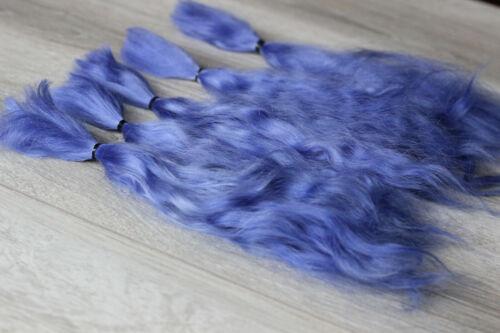 "Mohair Doll Hair color smoky blue 8-11/"" in 0.35 oz locks angora DIY baby reborn"