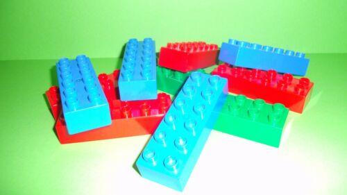 LEGO DUPLO 10x 12er Blocs de construction 6x2 rien raison Blocs de construction d/'occasion