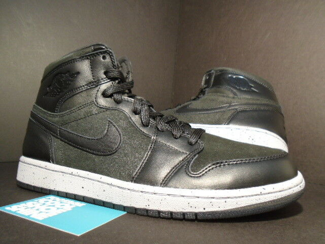 Nike Air Jordan I Retro 1 Hi NYC BLACK FIRE RED WOLF CEMENT GREY WHITE 23NY OG 8