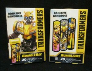 TRANSFORMERS-Bumble-Bee-Adhesive-Bandages-Assorted-Designs-3-4-034-X-3-034-2-boxes