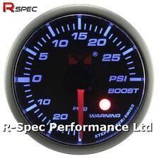 52mm Blue Stepper Motor Warning Turbo Boost Pressure Gauge Psi - With Warning