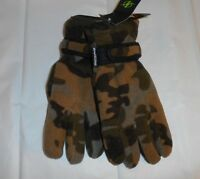 Nordictrack Mens Fleece Thinsulate 40 Gram Camouflage Gloves Green M/l