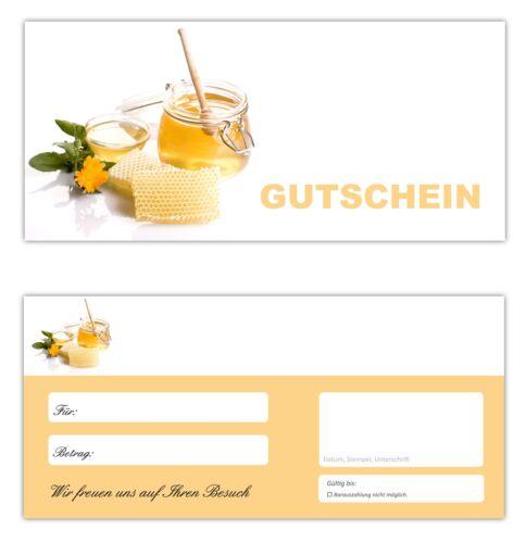 Gastronomie Gutscheine Gutscheinkarten Honig-666 20 x Geschenkgutscheine