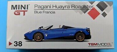Pagani Huayra Roadster Blue Francia LHD 1:64 TSM Mini GT