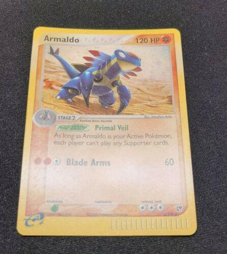 HOLO RARE CARD POKEMON 1X ARMALDO 1//100 EX SANDSTORM  NM