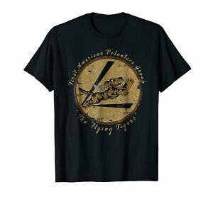 034-Flying-Tigers-Squadron-034-WWII-Vintage-Insignia-T-Shirt-Vintage-Men-Gift-Tee