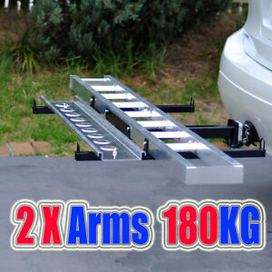 MC400A-Towbar-Dirt-Motor-Bike-Motorcycle-Motorbike-2-arms-Carrier-Rack-with-Ramp