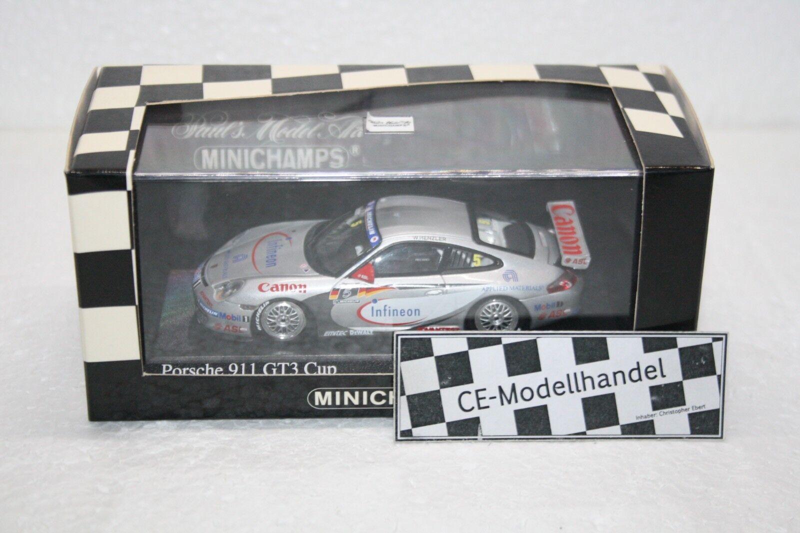 Porsche 911 gt3 CUP   5 W HENZLER Supercup Winner  2004  MINICHAMPS  1 43