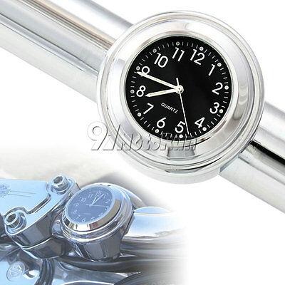 Black Motorcycle Handlebar Clock For Suzuki Boulevard C50 C109R M109R M50 M90