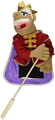 100% Kwaliteit Melissa & Doug King Puppet #3890 New With Detachable Rod