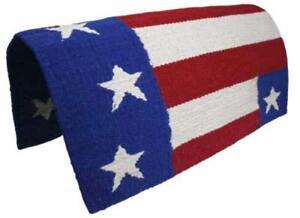 Tahoe-Tack-American-Flag-Patriotic-Acrylic-Western-Horse-Saddle-Blanket-32-034-X-32