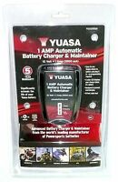 Yuasa 1 Amp Automatic Battery Charger & Maintainer Yua1201000 12 Volt >new