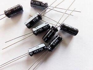 lot-de-20-condensateurs-chimique-electrolytique-NICHICON-10uf-35v