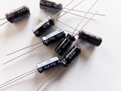 lot de 5 condensateurs chimique electrolytique NICHICON 10uf 35v