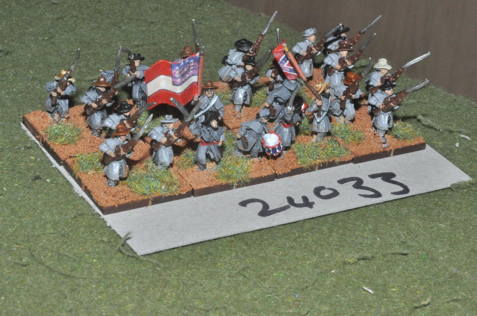 15mm ACW   confederate - regiment 24 figures - inf (24033)