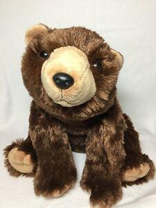"Wild Republic Brown Bear Plush Soft Toy Stuffed 12"" Animal"