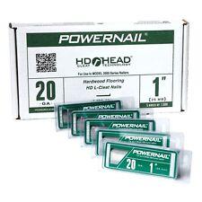 Powernail 20 Ga Hardwood Flooring L Cleats Nails 1 Inch 5000