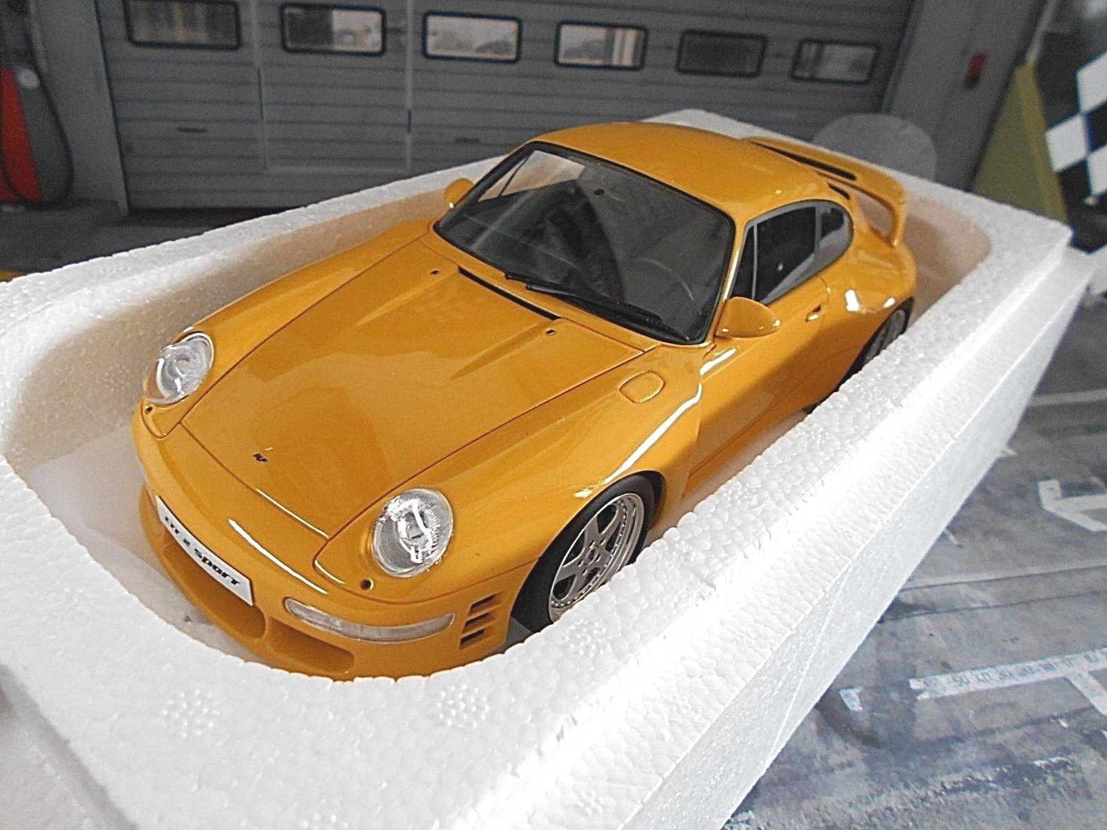 Porsche 911 993 réputation Tuning ctr2 Sport Jaune 1997 GT Spirit gt141 NEUF 1 18