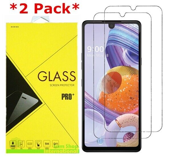 2-Pack Premium Real 9H Tempered Glass Screen Protector Film For LG Stylo 6
