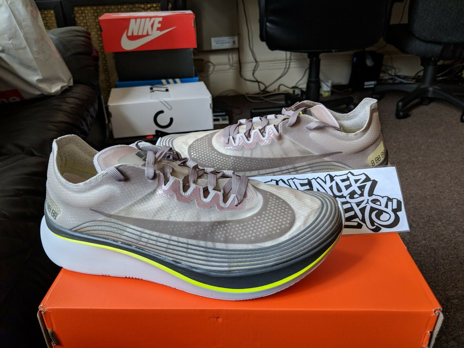 NikeLab Nike Zoom Fly SP Triple Sepia Sepia Sepia Stone White Brown Yellow Black AA3172-201 3ecdde