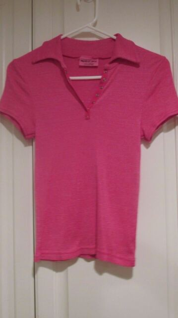 Michael Stars Pink V Neck Short Sleeve Shirt One size Fits All