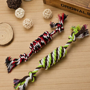 1PC-Puppy-Dog-Pet-Toy-Cotton-Braided-Bone-Rope-Chew-Knot-New-Random-color-SE