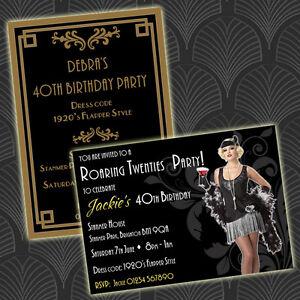 Personalised roaring twenties 1920s art deco style birthday party image is loading personalised roaring twenties 1920s art deco style birthday filmwisefo Choice Image