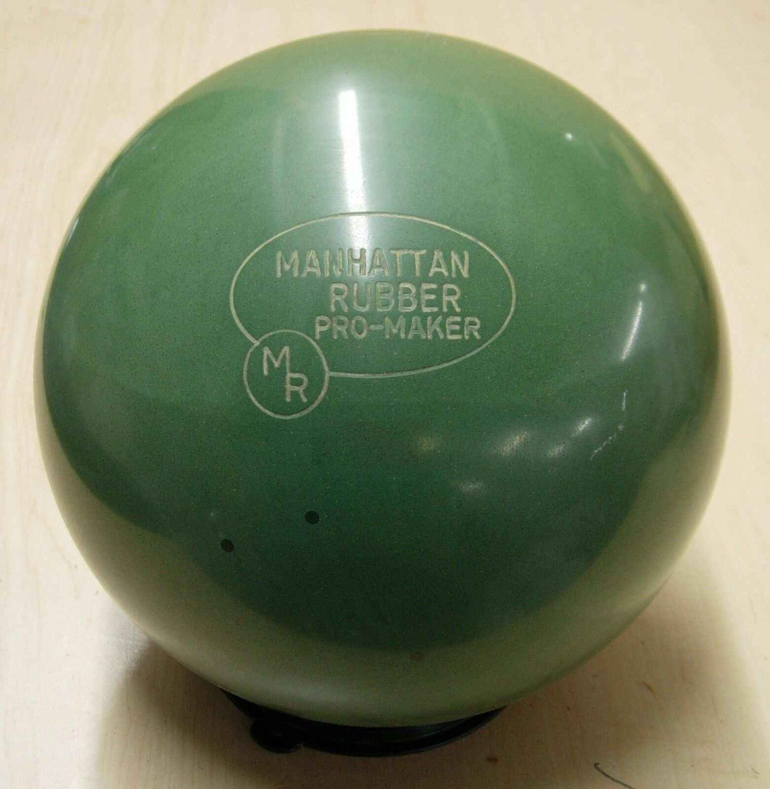 16golden Goodie  Manhattan Rubber 1982 PROMAKER Green Rubber, made by Ebonite