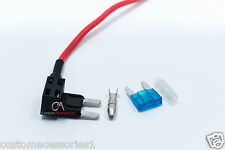 10 ADD A CIRCUIT FUSE PIGGY BACK MINI BLADE HOLDER APM ATM 12v 24v NEW