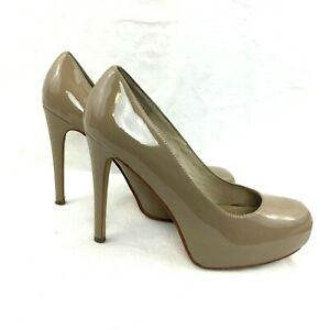 3a09fb5dcf0 Details about Chinese Laundry Whistle Nude Patent Platform Pumps Women's  Size 10M High Heels