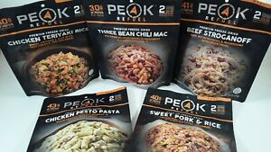PEAK REFUEL PREMIUM FREEZE-DRIED FOOD 5-PACK ASSORTED LIKE MOUNTAIN HOUSE