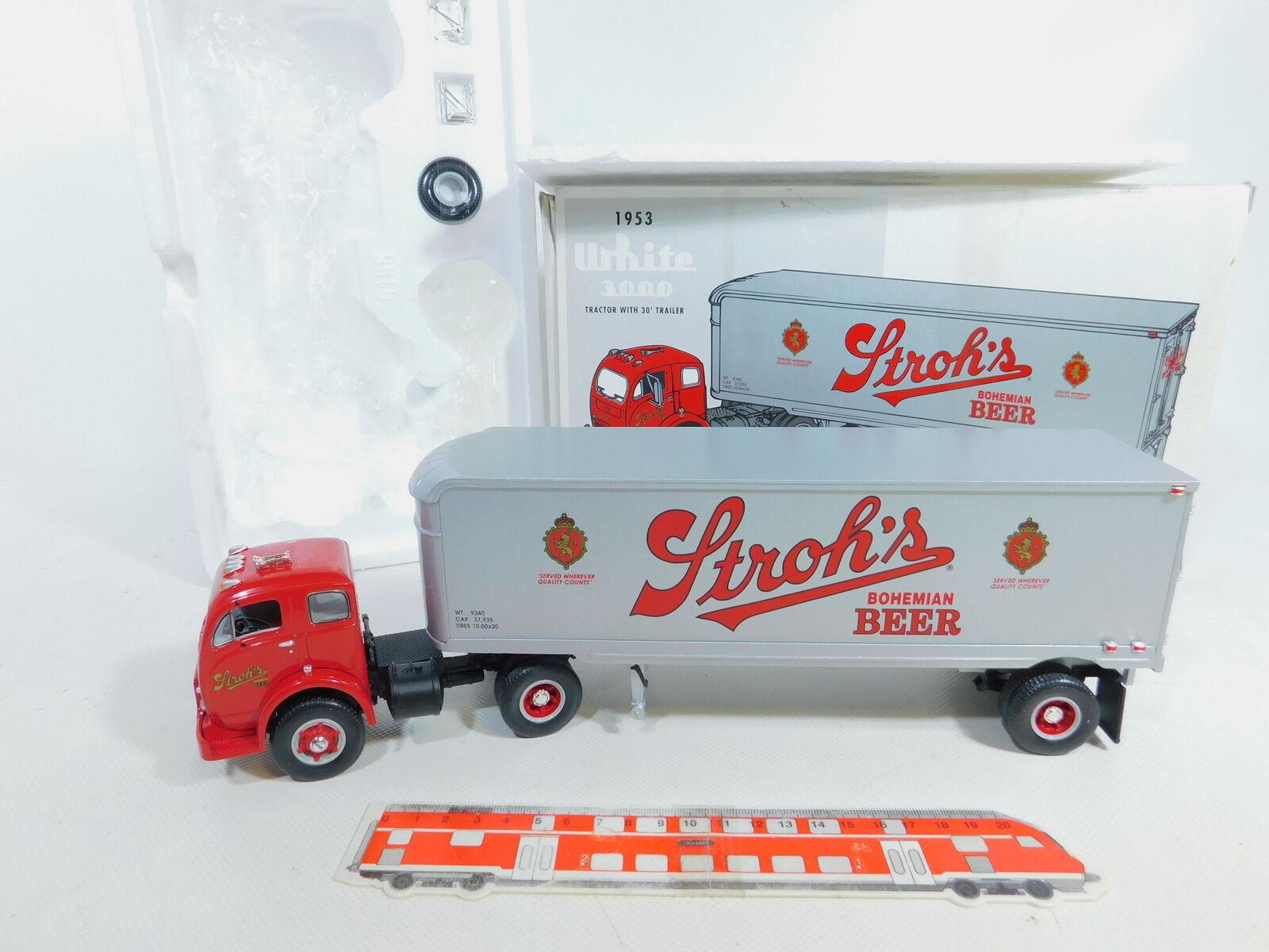CA101-2; primero Gear 1 3 4 19-1917 Truck bianca 3000 1953 Stroh's Beer, Mint scatola