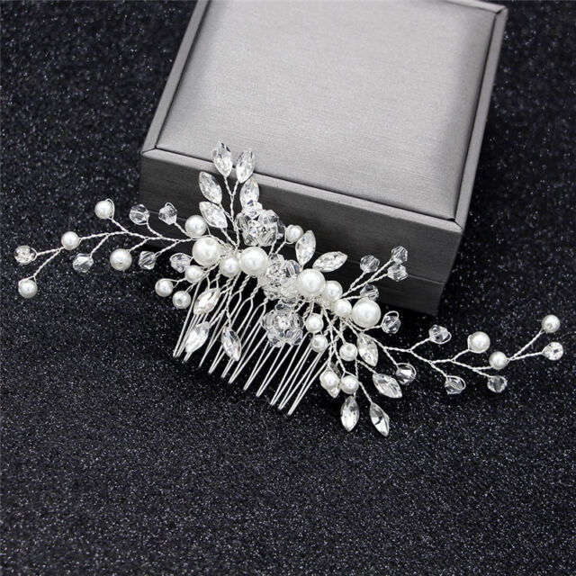 Bridal Headpieces crystal Wedding Accessories Silver jewelry hair Comb Fa C ii