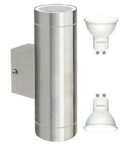 Modern-LED-Stainless-Steel-Double-Up-Down-Outdoor-Garden-Wall-Light-Cool-White