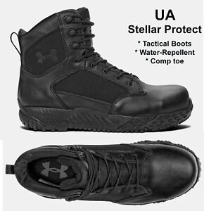 Details about Mens Under Armour Stellar Protect Tactical Black Boots Waterproof Comp Toe NEW