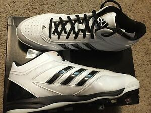 adidas Excelsior Pro Men's Metal Mid-Top Baseball Cleats Black White