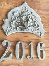 Estuco Corona de decoración con 4 Cifras anuales hormigón para Fachada exterior
