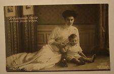 Orig. Foto AK  1908: Kronprinzessin Cecilie + Prinz Wilhelm von Preussen