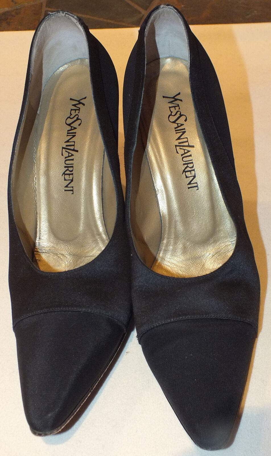 YSL Yves St. Laurent Ladies Shoes Heels Sz. 8.5 M Black Used