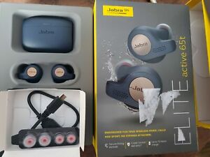 Jabra Elite Active 65t Earbuds True Wireless Earbud Headphones Copper Blue Ebay